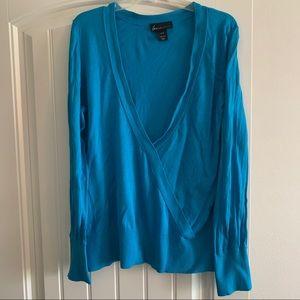 Lame Bryant deep V- neck sweater